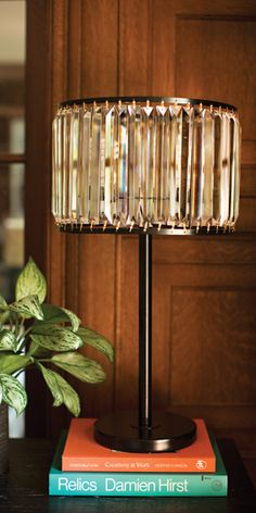 Create a rainbow of light in your home with the Wells Crystal lamp. Shop online now. #LivingSpaces