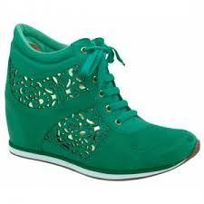 sneakers com salto verde - Pesquisa Google