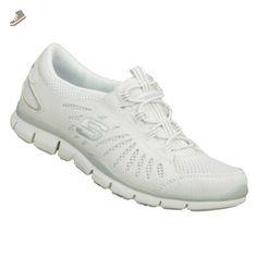 Skechers Gratis - Big Idea Fashion Sneaker Shoe - White - Womens - 7 - Skechers sneakers for women (*Amazon Partner-Link)