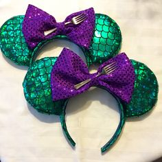 Ariel, Little Mermaid Disney Park Mickey Minnie Mouse Ears   A personal favorite from my Etsy shop https://www.etsy.com/listing/279122612/little-mermaid-ariel-mermaid-inspired