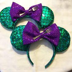 Ariel, Little Mermaid Disney Park Mickey Minnie Mouse Ears   A personal favorite from my Etsy shop https://www.etsy.com/listing/279122612/little-mermaid-ariel-mermaid-inspired