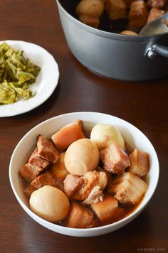 Thit kho with hard-boiled eggs (Vietnamese braised pork) - great with rice and popular on Lunar New Years!