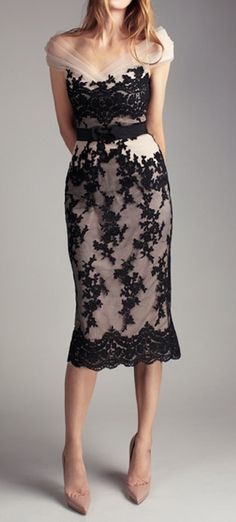 Black lace dress..perfect and classy for a holiday event.