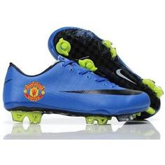 http://www.asneakers4u.com Wholesale Nike Mercurial Vapor Superfly III Elite Safari FG Firm Ground Manchester United Team Soccer Cleats Blue/Black