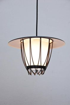 Mid-Century Lantern from Italy In Excellent Condition For Sale In Los Angeles, CA Chandelier Pendant Lights, Random House, This Is Us, Lanterns, Mid Century, Shades, Italy, Ceiling Lights, Lighting