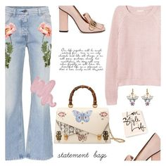 """""""Statement Bags"""" by jan31 ❤ liked on Polyvore featuring Gucci, H&M, Obsessive Compulsive Cosmetics and Dolce&Gabbana"""