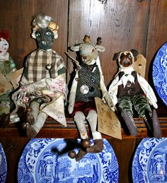 Mazing textile dolls from Some Dogs Body