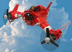 Lego Dieselpunk by Jon Hall Lego Spaceship, Lego Robot, Lego Moc, Lego Lego, Cool Lego, Cool Toys, Lego Avion, Steampunk Lego, Lego Plane