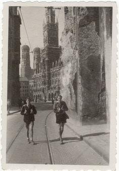 ☺ Munich 1947 Hans & Gunther German People, Munich Germany, War, Explore, History, Painting, Oktoberfest, Bavaria, Germany