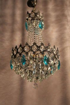 Vintage Antique Art Nouveau Crystal Chandelier French Vila Paris Luster Classic