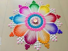 New Year Rangoli Designs 2019 Easy Simple Freehand Flower Pattern Unique Beutiful Prize Winning Images Pics Photos For School College Students Kids Latest Easy Rangoli Designs Diwali, Best Rangoli Design, Diwali Special Rangoli Design, Rangoli Simple, Simple Rangoli Designs Images, Rangoli Designs Latest, Rangoli Designs Flower, Rangoli Border Designs, Small Rangoli Design
