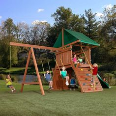 There are many ideas of decoration to your backyard to make outdoor play sets to your kids for amusement. First, you should decide how much space you will Toddler Playground, Playground Set, Backyard Playground, Backyard Swing Sets, Backyard Playset, Backyard Ideas, Backyard Toys, Backyard Patio, Garden Play Equipment