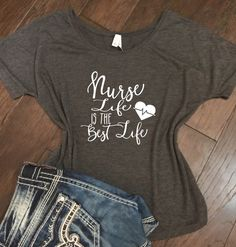 Nurse Life is the Best Life- Bella Canvas Racer back tank - Nurse Shirt, Gift for Nurse, Funny Nurse Shirt, Doctor shirt, Nurse by JLawCreations on Etsy https://www.etsy.com/listing/471385152/nurse-life-is-the-best-life-bella-canvas