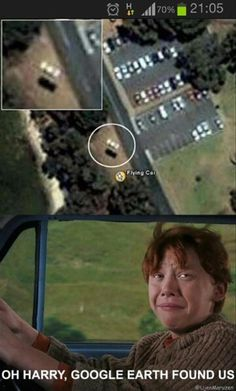 Harry Potter is a fake world, but who says it can't intersect with the real world? Here are 15 times people have spotted Harry Potter people and object Harry Potter World, Humour Harry Potter, Mundo Harry Potter, Harry Potter Fandom, Harry Potter Flying Car, Harry Potter Stuff, Harry Potter Memes Clean, Harry Potter Cast, Harry Potter Characters