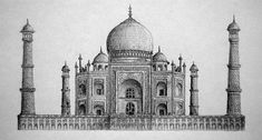 The amazing use of hatching and shading allowed for the detail in the Taj Mahal inspired drawing to be evident, with the finer details adding a nice aesthetic.