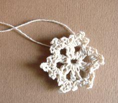 Handmade Christmas tree decorations, crochet ornaments, embellishments, Handmade holiday ornaments,white applique, crocheted snowflakes.