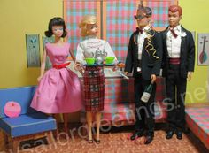 Barbie and Ken's New Year's Eve Party at the 1962 Dream House by Hey Sailor Greetings