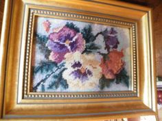 needle point pansies