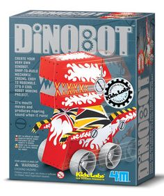 Bitty builders can construct their own terrifying T-Rex robot with this engaging kit. Featuring an easily assembled dino that opens its mouth and lets out a riveting roar, it puts tiny tinkerers on the path to creating the next mighty machine.