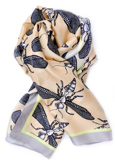 -- Wild Wasp Square Scarf