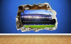 Chelsea wall sticker 3d #smashed #stamford #bridge bedroom football boys art,  View more on the LINK: 	http://www.zeppy.io/product/gb/2/112020311565/