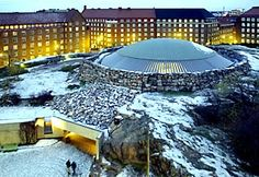 Temple Square Church (Temppeliaukio), a stone church, in Helsinki, Finland (by arch brothers Timo & Tuomo Suomalainen) Lofoten, Temple Square, Alvar Aalto, Place Of Worship, London Travel, Capital City, Helsinki, Wonderful Places, Places Ive Been
