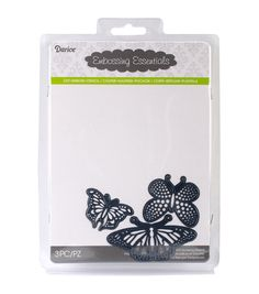 Darice Embossing Essentials Dies-Butterflies 3/Pkg