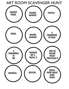 Ice breaker bingo in the artroom. Could modify for