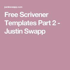 free scrivener templates part 2 justin swapp - Scrivener Resume Template