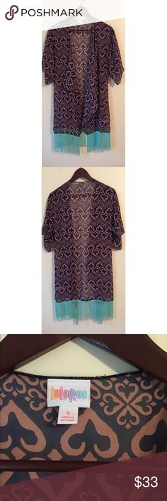 8af49a946e 3 for $25 Lularoe Monroe Kimono w/Fringe Size S Size small Lularoe Monroe