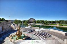 Soka University Alisa Viejo Wedding | wedding ceremony ideas.....plan for umbrellas and proper shade for your guests