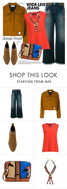 """""""Flare Up: Wide-Leg Jeans"""" by katjuncica ❤ liked on Polyvore featuring Marques'Almeida, Enza Costa, Paula Cademartori, Lizzie Fortunato, denimtrend and widelegjeans"""