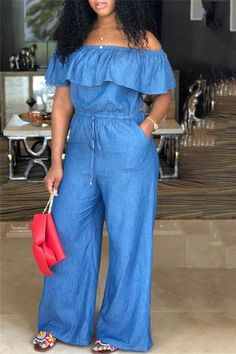 Curvy Girl Outfits, Casual Outfits, Denim Fashion, Fashion Outfits, Off Shoulder Romper, Cold Shoulder, Cute Clothes For Women, Womens Workout Outfits, Wholesale Clothing