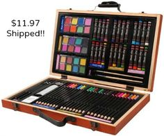 Do you have an artist in the family??? You can get this 80 piece deluxe art set delivered for only $11.97!! Comes with pencils, colored pencils, water colors, oil pastels, brushes, and much more... check it out. Art supplies are expensive and this is a GREAT deal!!  http://www.coupondad.net/80-piece-deluxe-art-set-11-97-shipped/ #artsupplies #giftideas