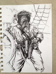 Pirate sketchArt of Karl Kopinski