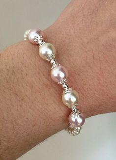 Bead Jewellery, Pearl Jewelry, Bridal Jewelry, Beaded Jewelry, Jewelry Bracelets, Jewelery, Silver Jewelry, Silver Ring, Silver Earrings