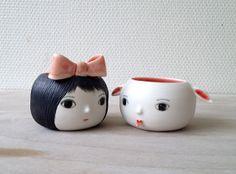 nathalie choux: Petit couple de porcelaine