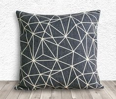 Pillow Cover, Pillow Case, Cushion Cover, Linen Pillow Cover 18x18 - Printed Geometric - 039 on Etsy, $14.99