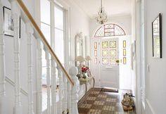 leaded windows #victorian #tiled #flooring #white #interior decor