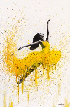 Sunflower Dancer by Ashvin Harrison is printed with premium inks for brilliant color and then hand-stretched over museum quality stretcher bars. Money Back Guarantee AND Free Return Shipping. Ballerina Painting, Ballerina Art, Ballet Art, Ballet Drawings, Dancing Drawings, Art Drawings, Dance Paintings, Dance Pictures, Dance Photography
