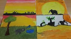 African sunset masterpieces by the 10-11 age group