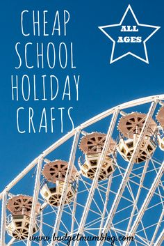 budget crafts for school holidays for all ages girls and boys. School Holiday Crafts, School Holiday Activities, Holiday Fun, Australian Holidays, Australian Christmas, All Holidays, School Holidays, Budget Crafts, Living On A Budget