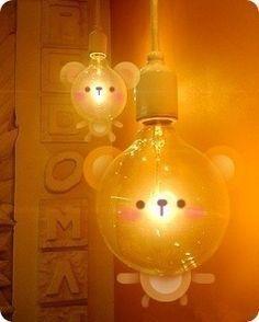 小熊灯罩 So funny and cute. And also a bit too bright!