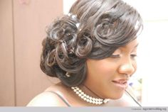 Gorgeous Nigerian wedding hairstyles & make up by Kemi Kings!