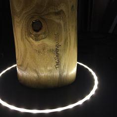 NEW - LED Ring. Stehlampe von TheShiningWood
