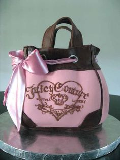 Juicy Couture purse cake by The People's Cake Cupcakes, Cupcake Cookies, Handbag Cakes, Purse Cakes, Juicy Couture Purse, Couture Purses, Couture Handbags, Michael Jackson, Michael Kors