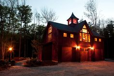 Carriage House Exterior at Night | Yankee Barn Homes | Flickr