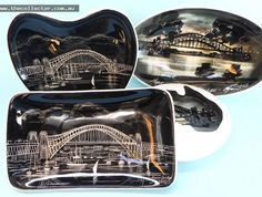 """The Collector on Instagram: """"4 Studio Anna Australian pottery souvenier ware dishes featuring Sydney Harbour bridge, c1950's - auction 10th December 6pm #thecollector…"""""""