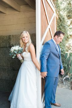 Special moment before the ceremony.  Rustic ranch wedding.  Wedding Photography by www.leahvis.com
