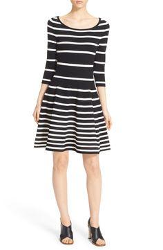 Milly Stripe Scoop Neck Skater Dress available at #Nordstrom